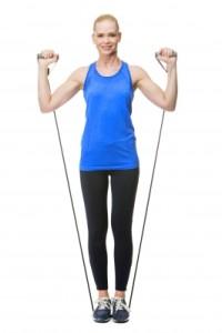Cvičení s gumou vás udrží FIT