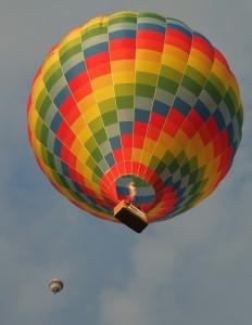 Lety balonem pro lepší náladu